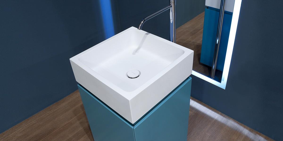 Aqua Mood Mobili Bagno.Mobile Bagno Centrostanza Con Lavabo Blokko Antonio Lupi Contecom