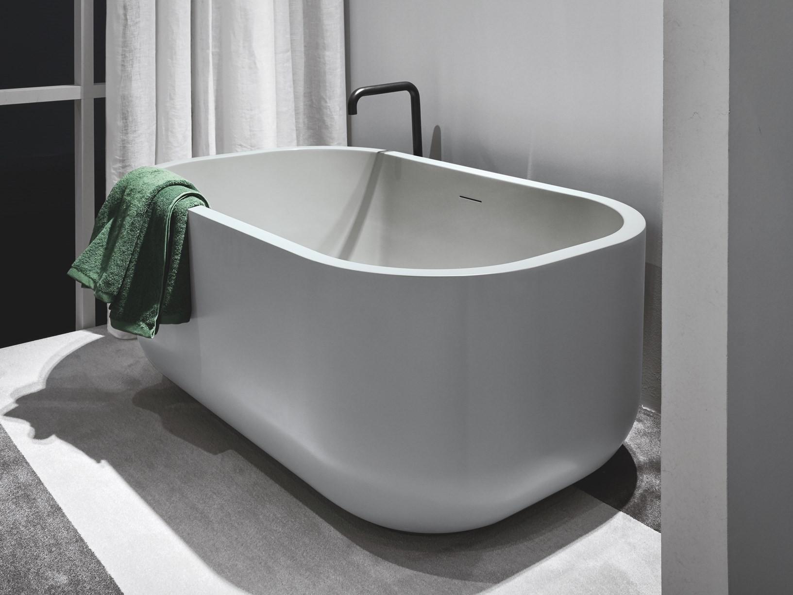 Vasca Da Bagno Incasso Ceramica : Vasca da bagno 130x80 cm dafne cielo contecom