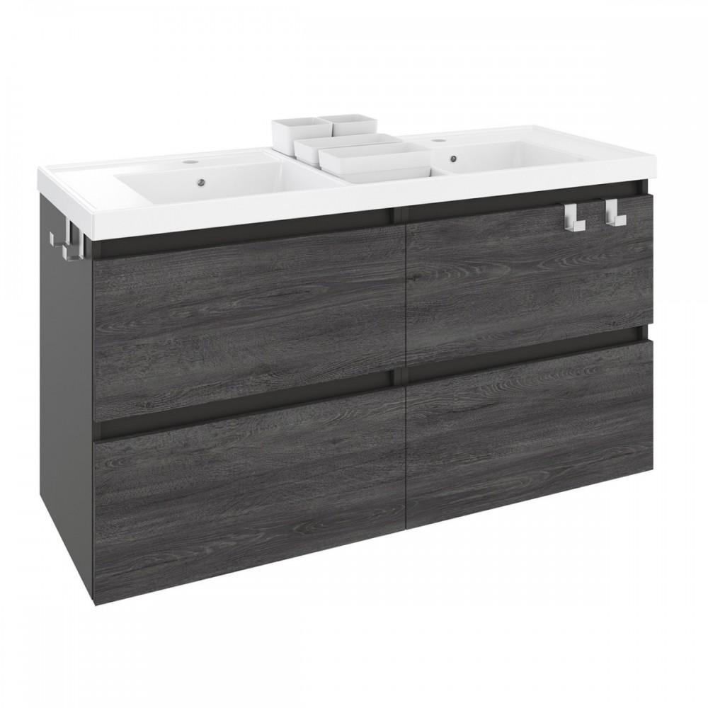 Mobile Bagno Lavandino Incasso mobili bagno doppio lavabo sospesi b-box cosmic - contecom