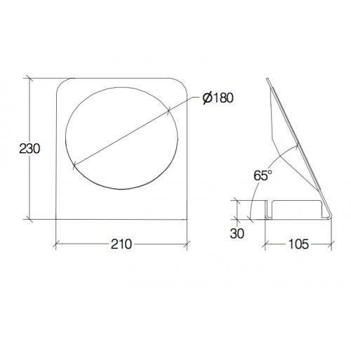 Specchio ingranditore con contenitore Mevedo55864 Lineabeta - contecom