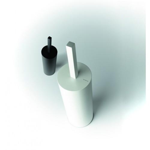 Portascopino a terra rotondo Toilet brush 3 Quadra by Frost - contecom