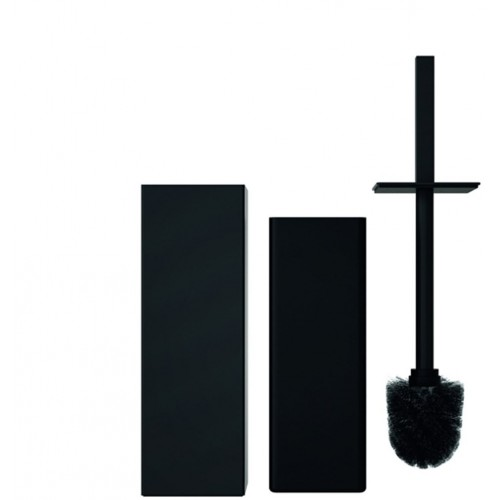 Portascopino a terra quadrato Toilet brush 6 Quadra by Frost - contecom