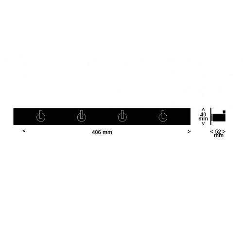 Appendiabiti a muro Hook x4 serie Nova2 by Frost - contecom