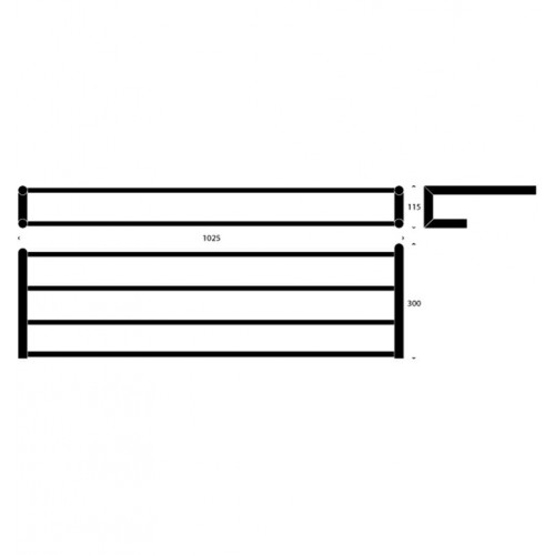 Ripiano portasalviette 100cm serie Nova2 by Frost - contecom