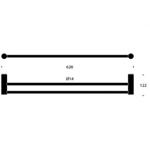 Portasalviette doppio da 60 cm 1916Nova2 by Frost - contecom
