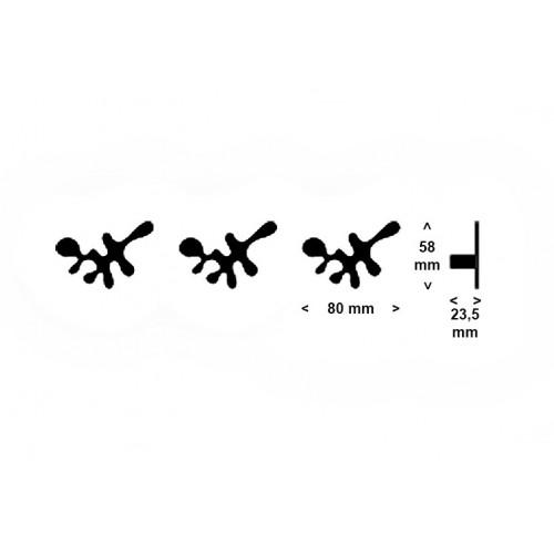 Set 3 appendiabiti mini Camouflage Signature by Frost - contecom
