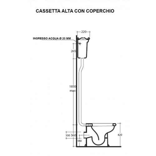 Cassetta alta con coperchio Ethos 8410 Galassia - contecom