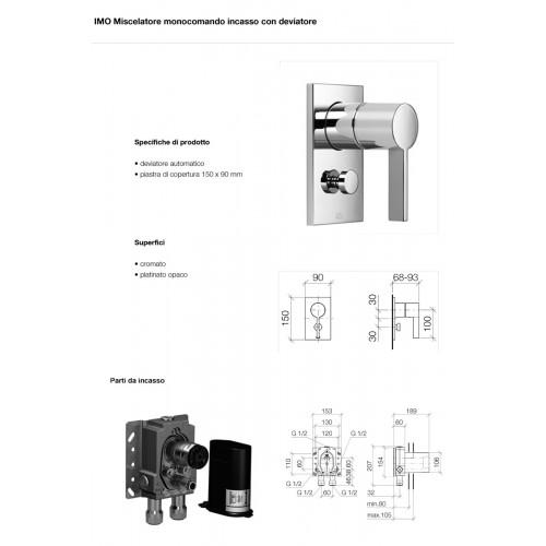 Miscelatore doccia con deviatore Imo CL1 Dornbracht-contecom