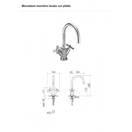 Miscelatore lavabo Tara 22 513 892 Dornbracht - contecom